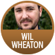Wil Wheaton badge