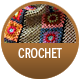 Crochet badge