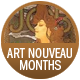Art Nouveau Months badge