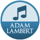 Adam Lambert badge