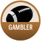 Gambler badge