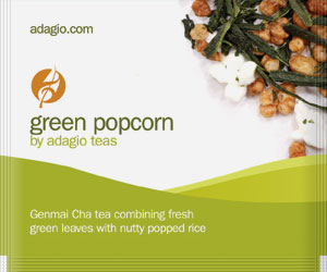 green popcorn teabags