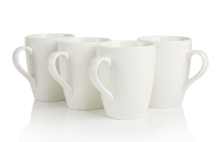 porcelain cups (white)