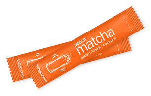 matcha sticks peach
